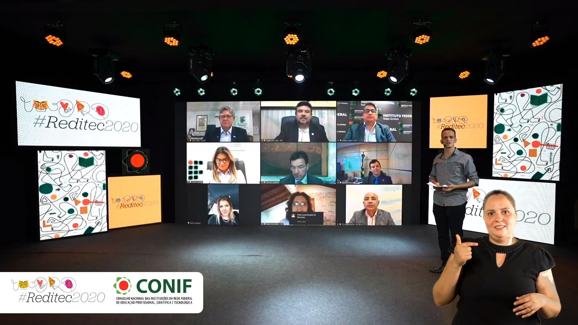 Solenidade interativa e inclusiva marca o início da primeira Reditec em formato totalmente digital